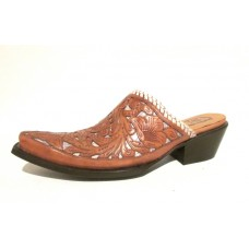 Mexican Charms Mules – Natural/Silver