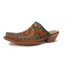 Mexican Charms Mules – Turquoise